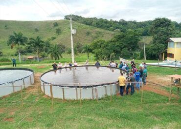 Aciacan apoia projeto de piscicultura para proprietários rurais em Cantagalo